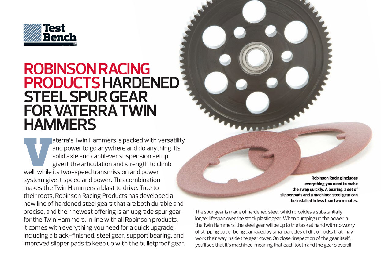 Robinson Racing steel spur gear Vaterra Twin Hammers