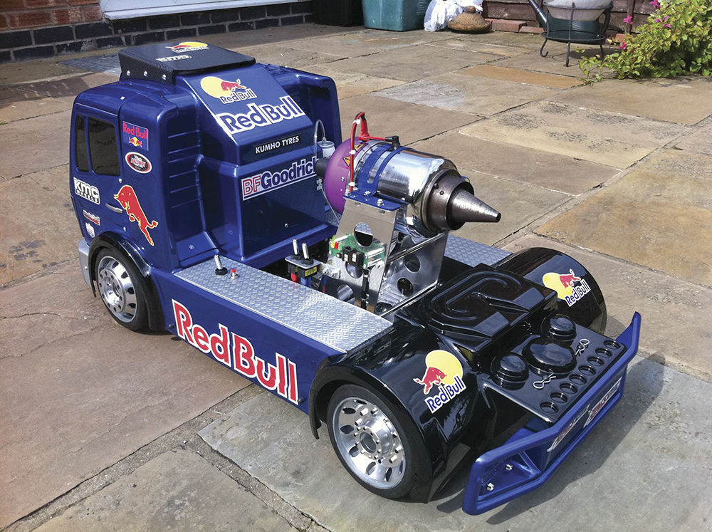 Jet Turbine Red Bull FG Truck