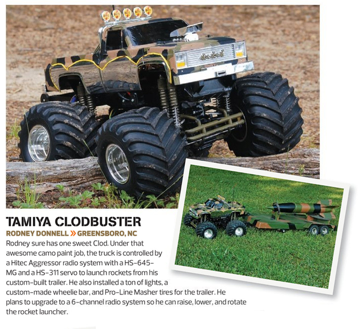 Tamiya Clod Buster Rocket Launcher Readers Ride