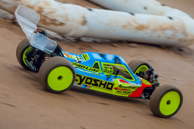 "Cactus Classic : Kyosho and Pro-Line factory driver Cody King runs the new Pro-Line ""Prime"" slicks in modified 2WD buggy."