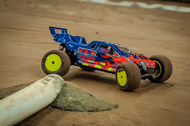 TLR's Dakotah Phend on the track.