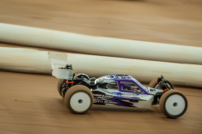 HPI/Hot Bodies' Ty Tessmann has been on a roll and has already locked up the TQ position in 2WD buggy.