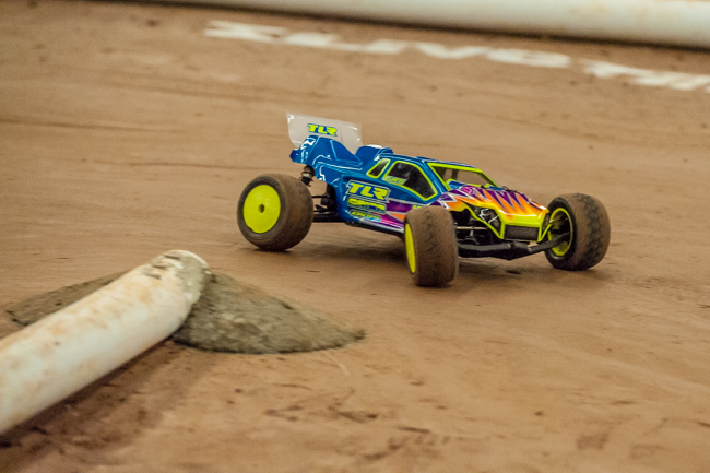 TLR's Dustin Evans driving the new 22T 2.0 coming to hobby shops very soon.
