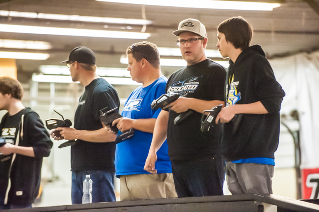 Team Associated's Kobe Yonker isn't fazed by the factory drivers at the event.