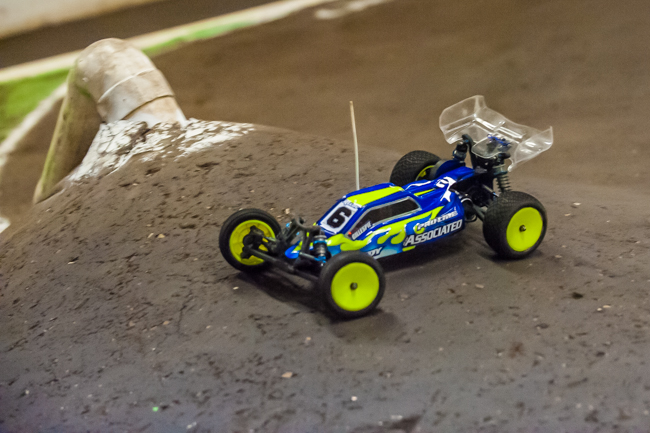 Rob Gillespie Jr. on the move in 2WD buggy.