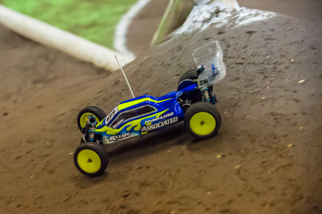 Team Associated's Rob Gillespie Jr. has been negotiating the technical course to put him up front.