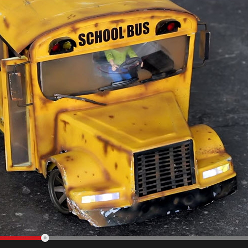 Watch this 6-Wheel-Drive RC School Bus Drift Like a Champ [VIDEO]