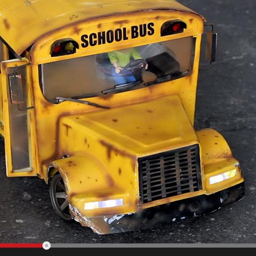 Watch this 6-Wheel-Drive RC School Bus Drift Like a Champ [VIDEO]