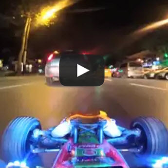 1/5 Scale Buggy vs. Traffic: Don't Try This At Home [VIDEO]