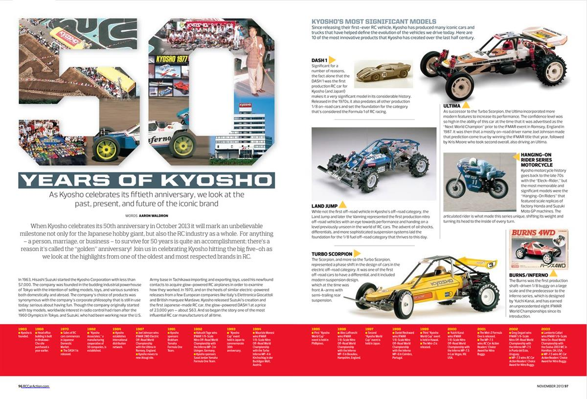 Kyosho 50 Years Spread 1