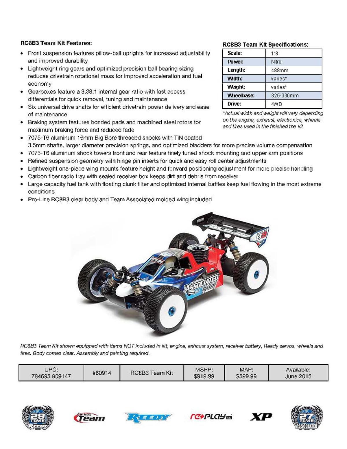 Team Associated RC8B3 Team Kit