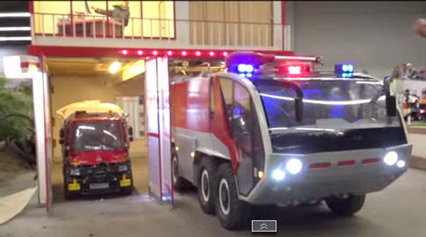 RC Firefighter garden scale trucking