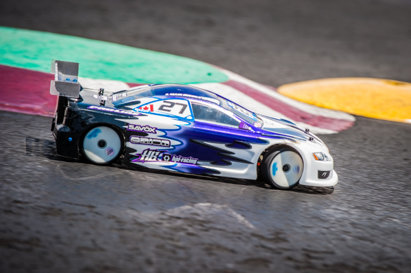 Ty Tessmann is driving the new HB/HPI Racing Pro 5 that will be hitting the market shortly.