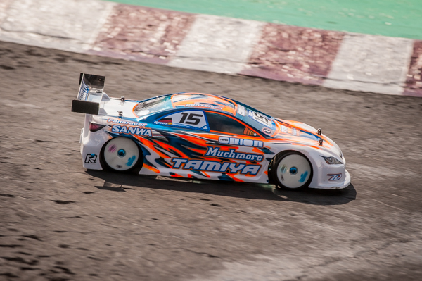 Tamiya's Christopher Krapp is the darkhorse and may be able to mount his own bid for the overall win.