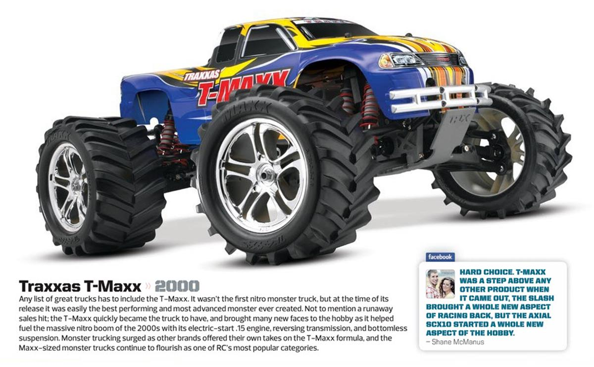Greatest RC Trucks of all Time, radio control, rc car, Traxxas T-Maxx