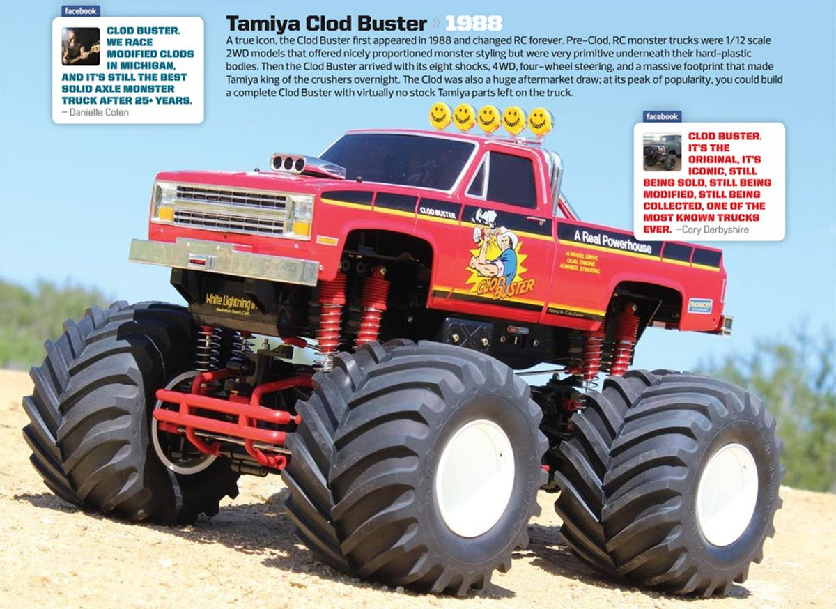 Greatest RC Trucks of all Time, radio control, rc car, Tamiya Clod Buster