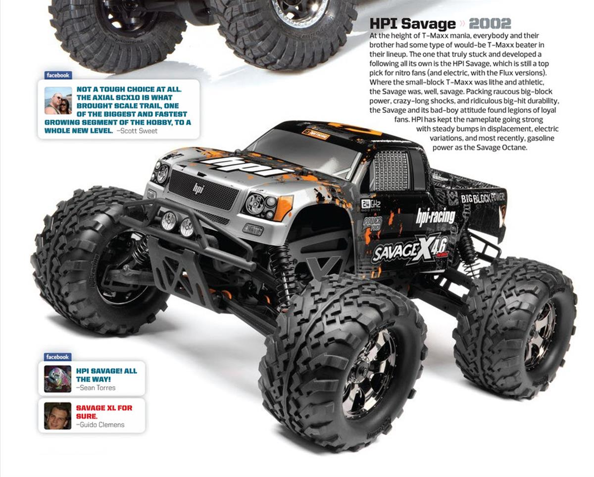 Greatest RC Trucks of all Time, radio control, rc car, HPI Savage