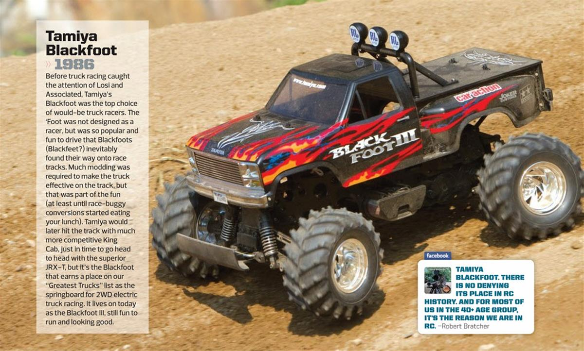 Greatest RC Trucks of all Time, radio control, rc car, Tamiya Blackfoot