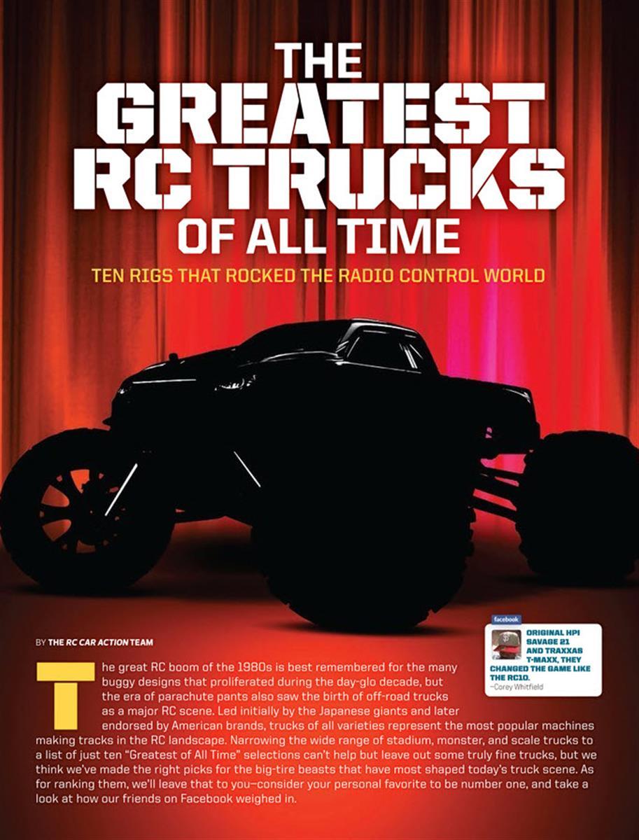 Greatest RC Trucks of all Time, radio control, rc car, Traxxas, Tamiya, Losi, HPI, Team Associated