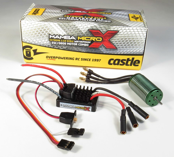 Castle Mamba Micro X entire system and package