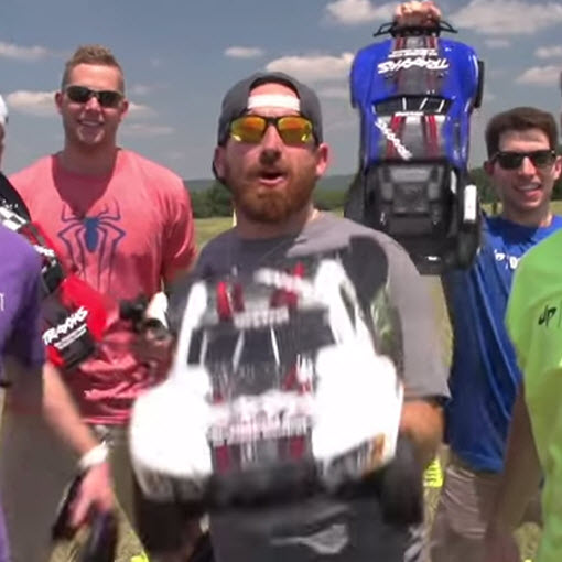 """Dude Perfect"" Guys Get Down With Traxxas for RC Bowling, Fishing, Rally"