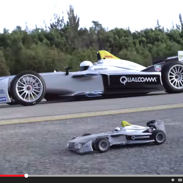 This Full-size vs. RC Formula-E Matchup Is Pretty Cool, and Fake [VIDEO]