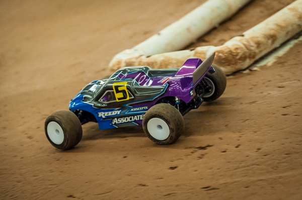 Team Associated's Spencer Rivkin is hoping his local knowledge of the track will help him to find the way up front in the mains. He's put in an impressive display and sits high up in his classes with mains starting.