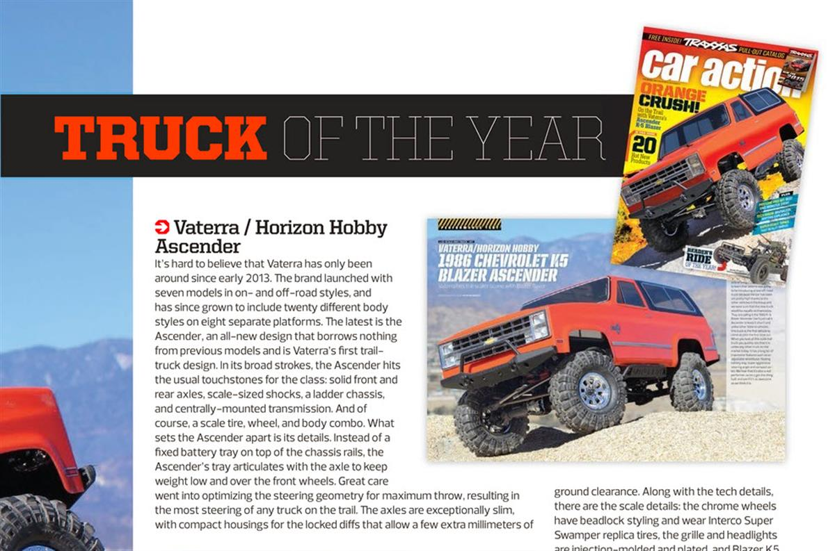 RC Car Action Editor's Choice Awards Vaterra Ascender