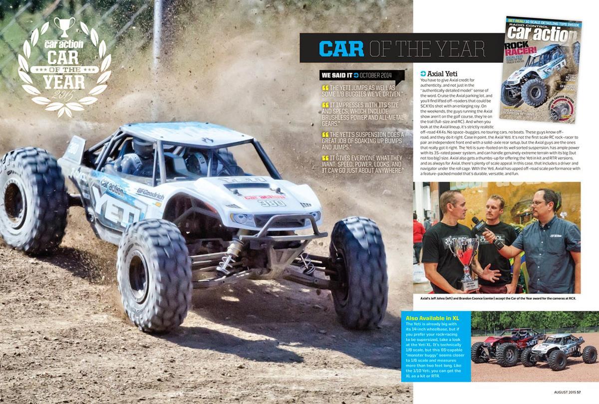 RC Car Action Editor's Choice Awards Axial Yeti