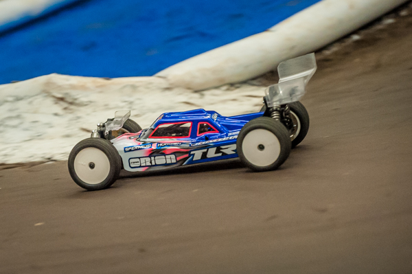 TLR's Ryan Maifield TQ'd 2WD and 4WD buggy, but with a single 10-minute A-main, a win is anything but certain.