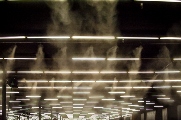 SRS Raceway recently installed a misting system to help make the surface more consistent.