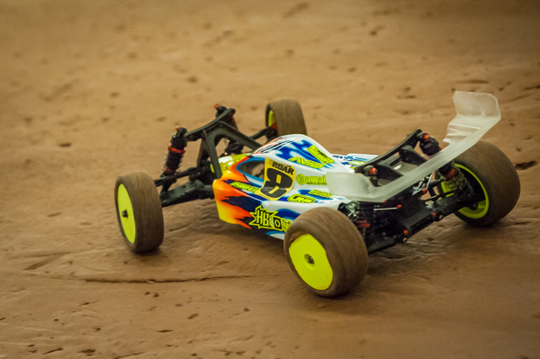 Drew Moller usually is seen running his own 2WD creation, but with a 2WD buggy nearing production, it is only fitting to see him behind the wheel of something closer to home.