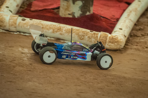 HB/HPI Racing driver Tanner Stees running strong