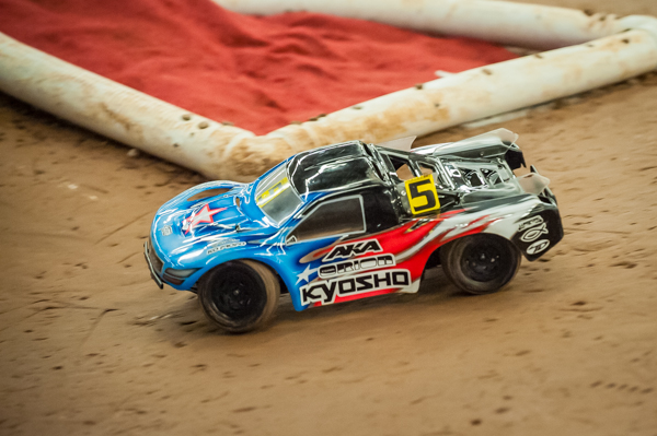 Kyosho's Jared Tebo had a chance to steel the TQ in the final round of qualifying, but a crash relegated him to the 3rd spot on the grid.
