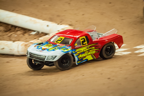 Ryan Cavalieri is dominating the event in spite of only having limiting time with his new RC10SC5M
