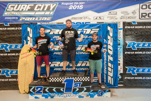 Ryan Maifield takes 2WD buggy with Ryan Cavalieri in 2nd and Team Associated's Kody Numedahl in 3rd.