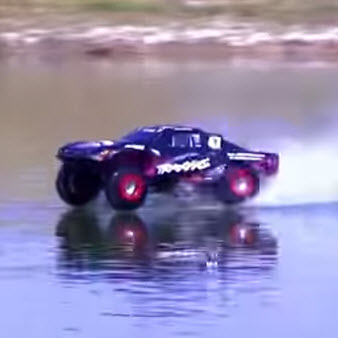 Slash 4X4 Nails On-Water Hydroplane Jump [VIDEO]