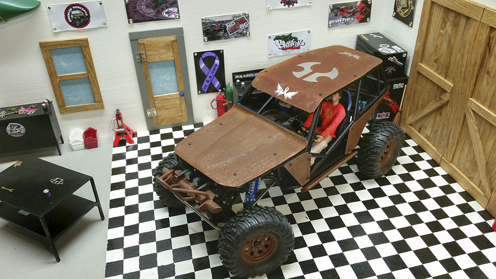 Axial Wraith, Custom, RC, Crawler, Scale, Metal body