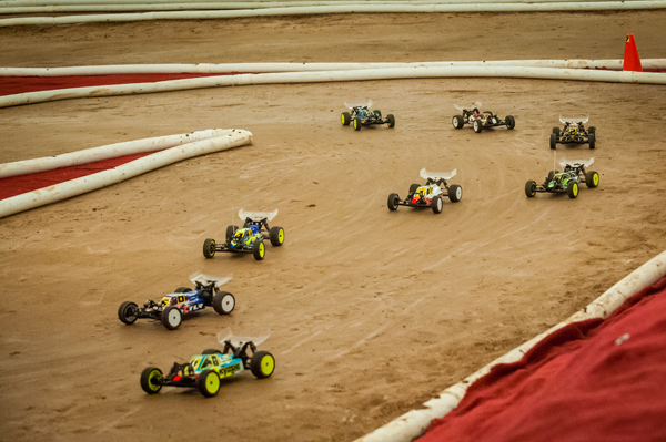 Meticulously prepared buggies prepare to race at the recent ROAR Nationals.