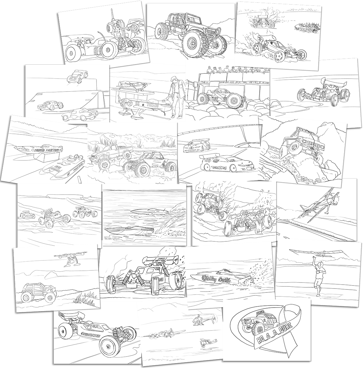 RC Coloring book