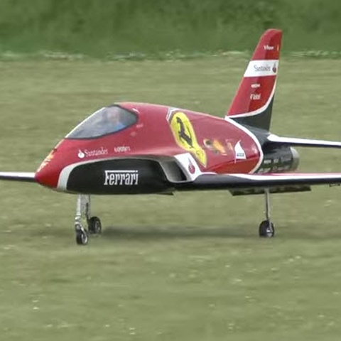 This 200mph, Turbine-Powered, Ferrari-Themed RC Jet Will Make You Love Planes [VIDEO]
