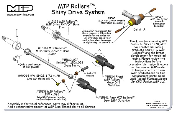 MIP Rollers Shiny Drive System For The HB D413 (3)