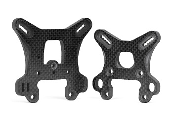 Avid RC8B3 Carbon Fiber Shock Towers