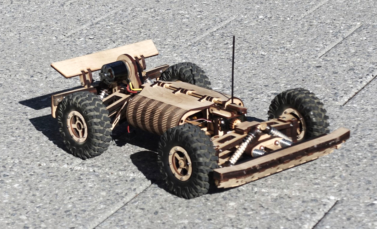 Woody wooden RC car 5