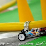 2013 IFMAR 4WD Champion Steven Hartson is another Team Associated driver using a protoype B5M buggy with laid down transmission and JConcepts body.
