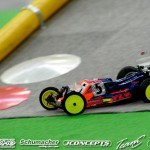 Dakotah Phend has ben showing great speed with his prototype TLR buggy, but a few crashes have affected his overall results.
