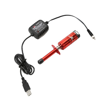 Dynamite RC Metered NiMh Glow Driver With USB Charger