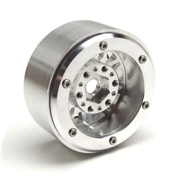 Gear Head RC 1.9 Silver And Gunmetal Gray Beadlock Wheels (3)