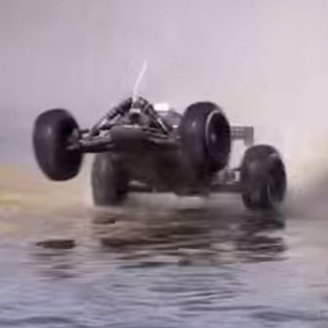 Pull a Wheelie While Hydroplaning? That's Unpossible! [VIDEO]