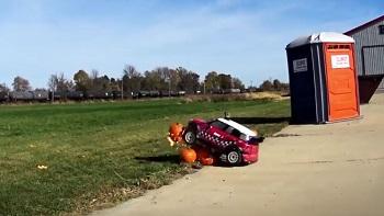 Losi Goes Pumpkin Smashing With A Losi RTR 1/5 MINI WRC [VIDEO]